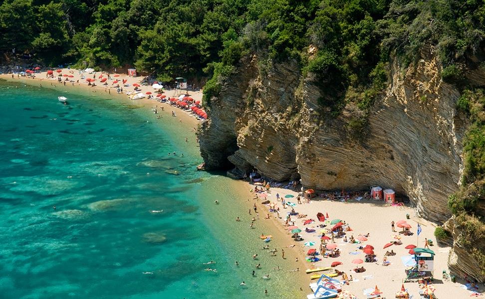 Пляж Могрен в Черногории