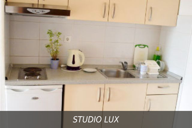 Кухня в номере Studio Lux в Вилле Здравка, Хорватия