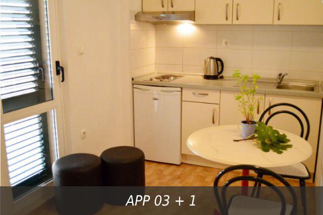 Кухня в апартаменте в Вилле Здравка